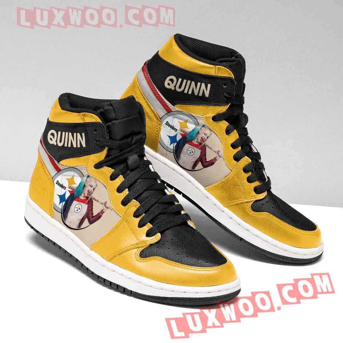 Pittsburgh Steelers Nfl Air Jordan 1 Custom Shoes Sneaker V1