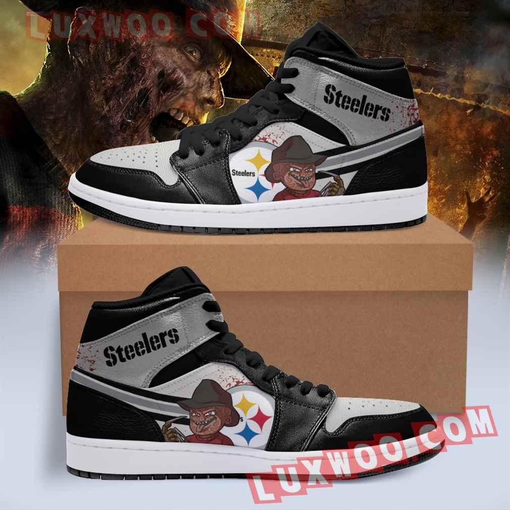 Pittsburgh Steelers Nfl Air Jordan 1 Custom Shoes Sneaker V3