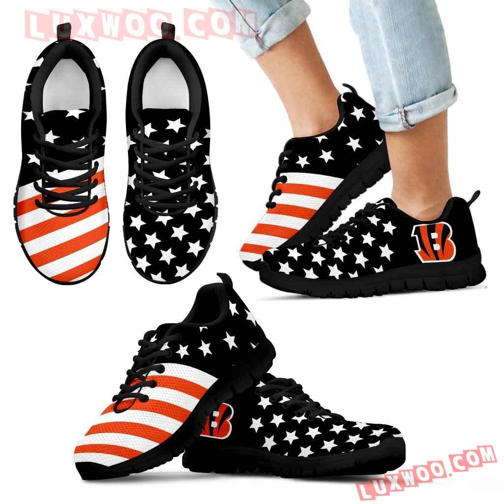 America Flag Full Stars Stripes Cincinnati Bengals Sneakers
