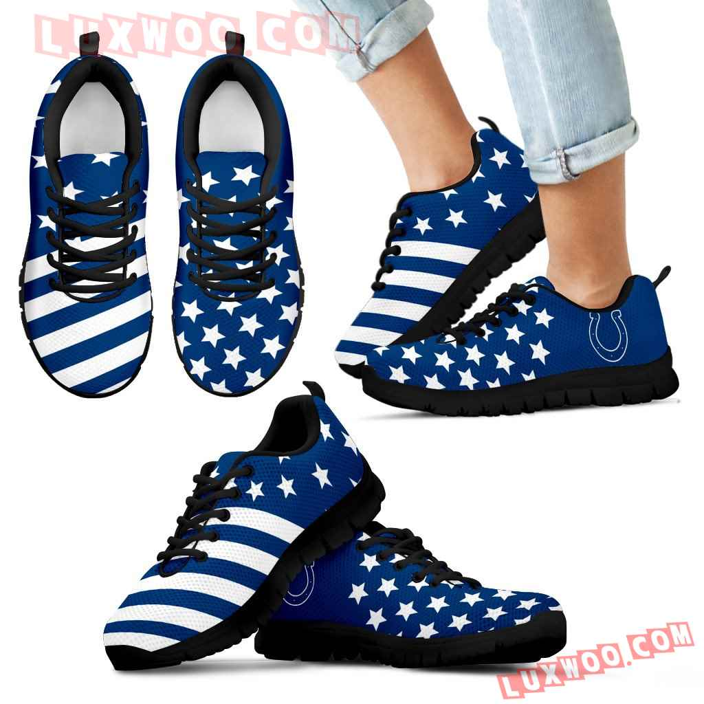 America Flag Full Stars Stripes Indianapolis Colts Sneakers