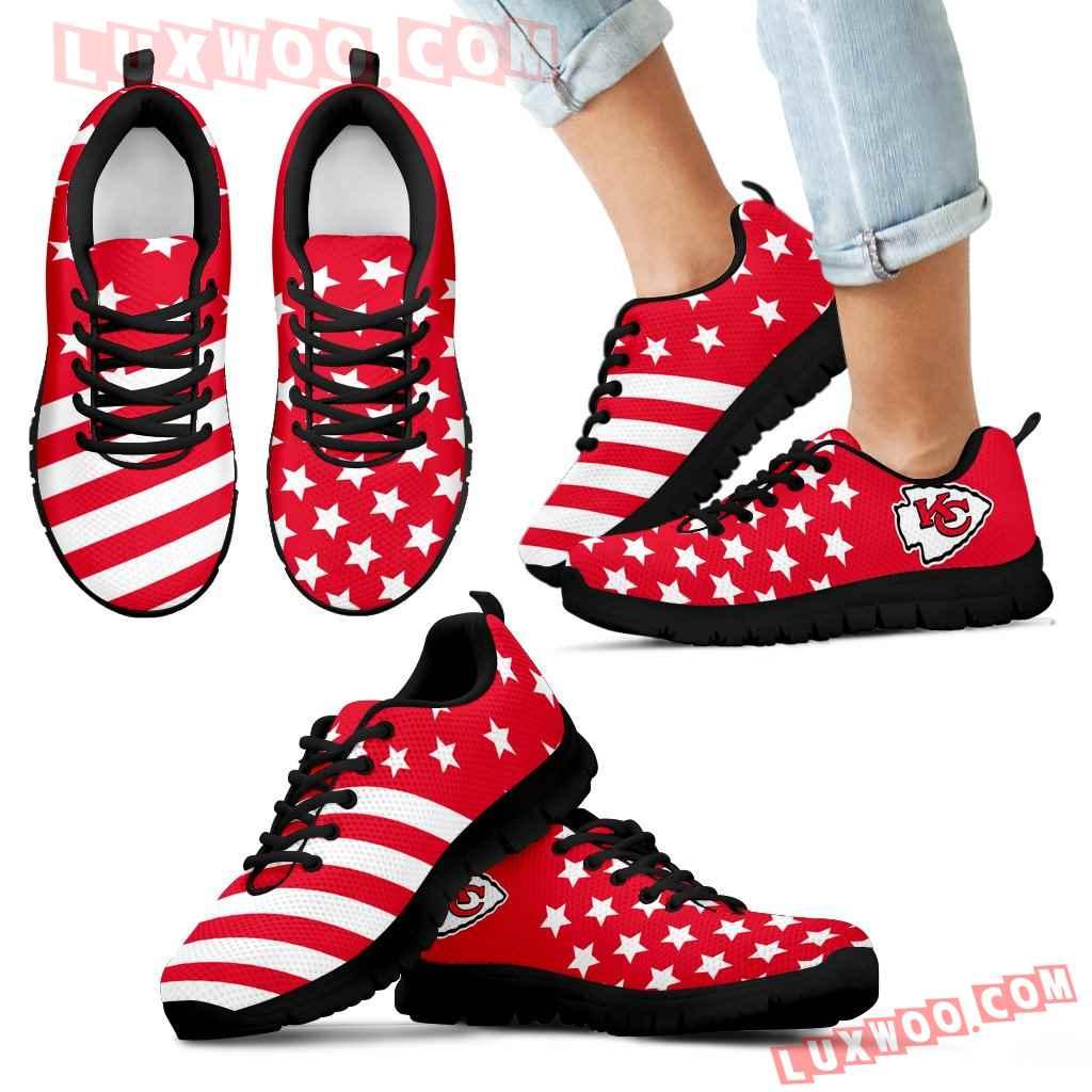 America Flag Full Stars Stripes Kansas City Chiefs Sneakers