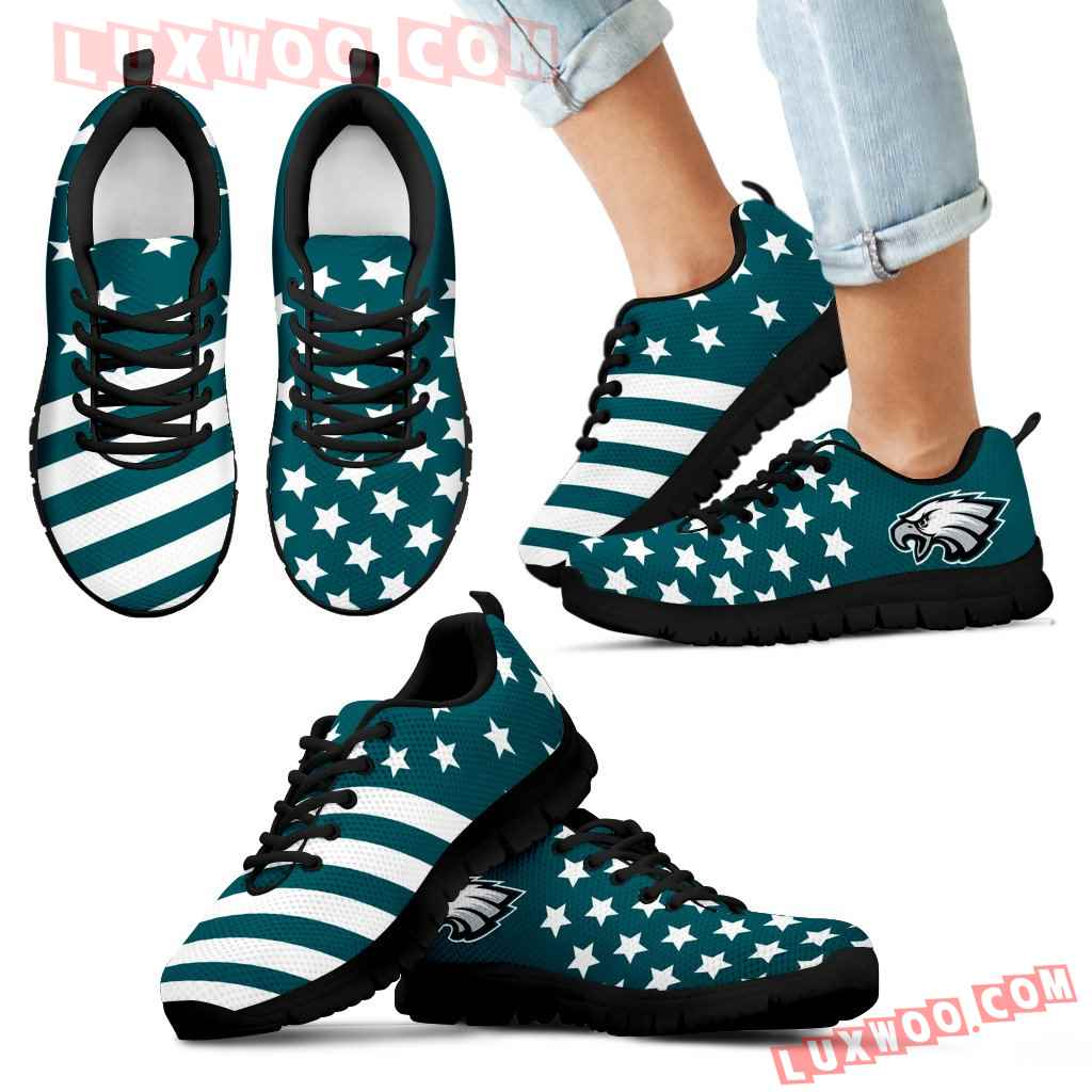 America Flag Full Stars Stripes Philadelphia Eagles Sneakers