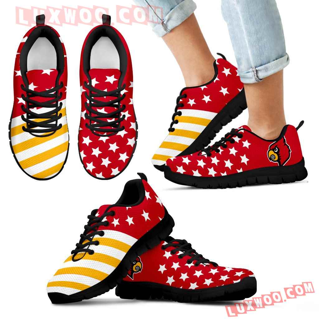 American Flag Full Stars Louisville Cardinals Sneakers