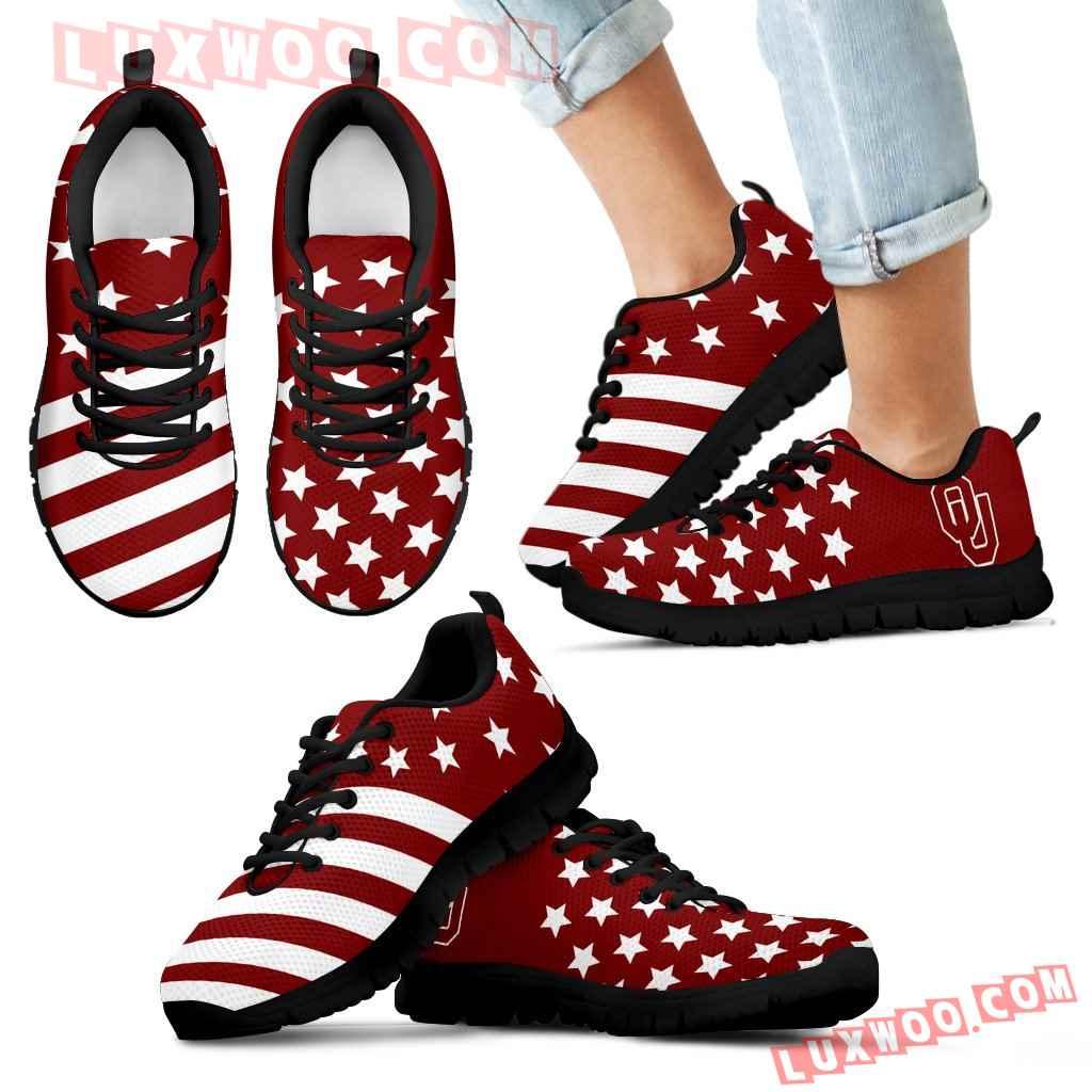 American Flag Full Stars Oklahoma Sooners Sneakers