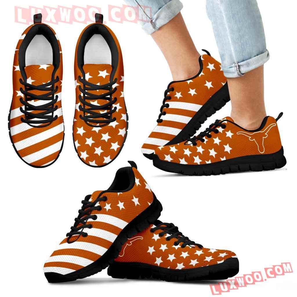 American Flag Full Stars Texas Longhorns Sneakers