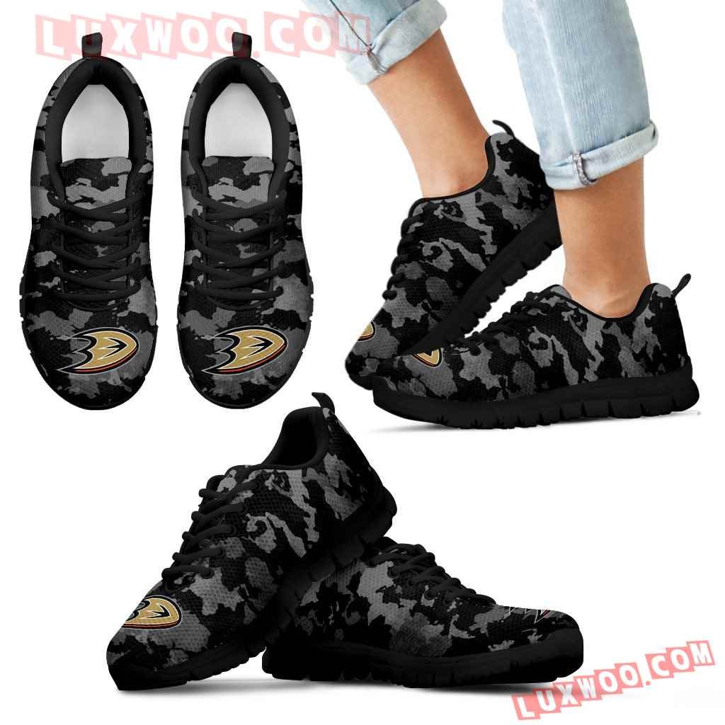 Arches Top Fabulous Camouflage Background Anaheim Ducks Sneakers