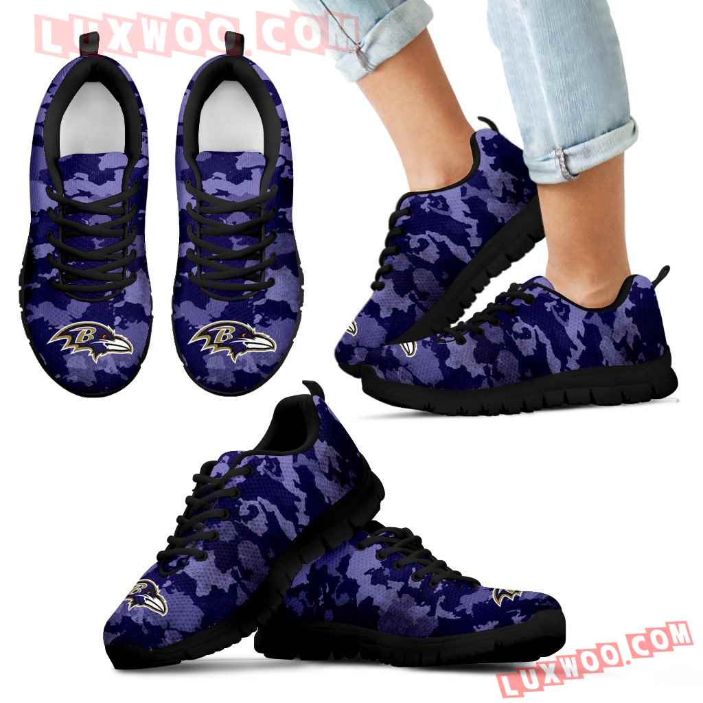 Arches Top Fabulous Camouflage Background Baltimore Ravens Sneakers