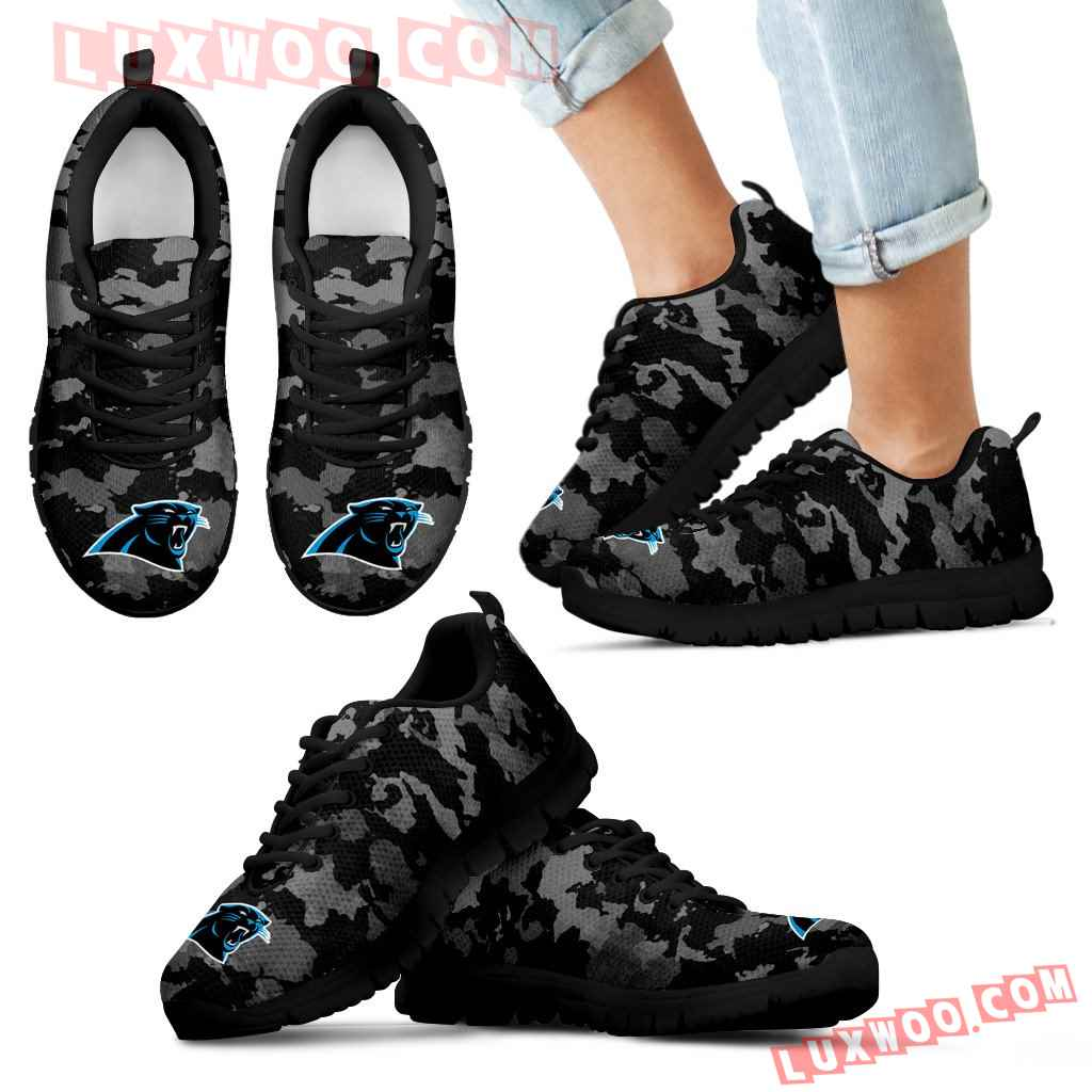 Arches Top Fabulous Camouflage Background Carolina Panthers Sneakers