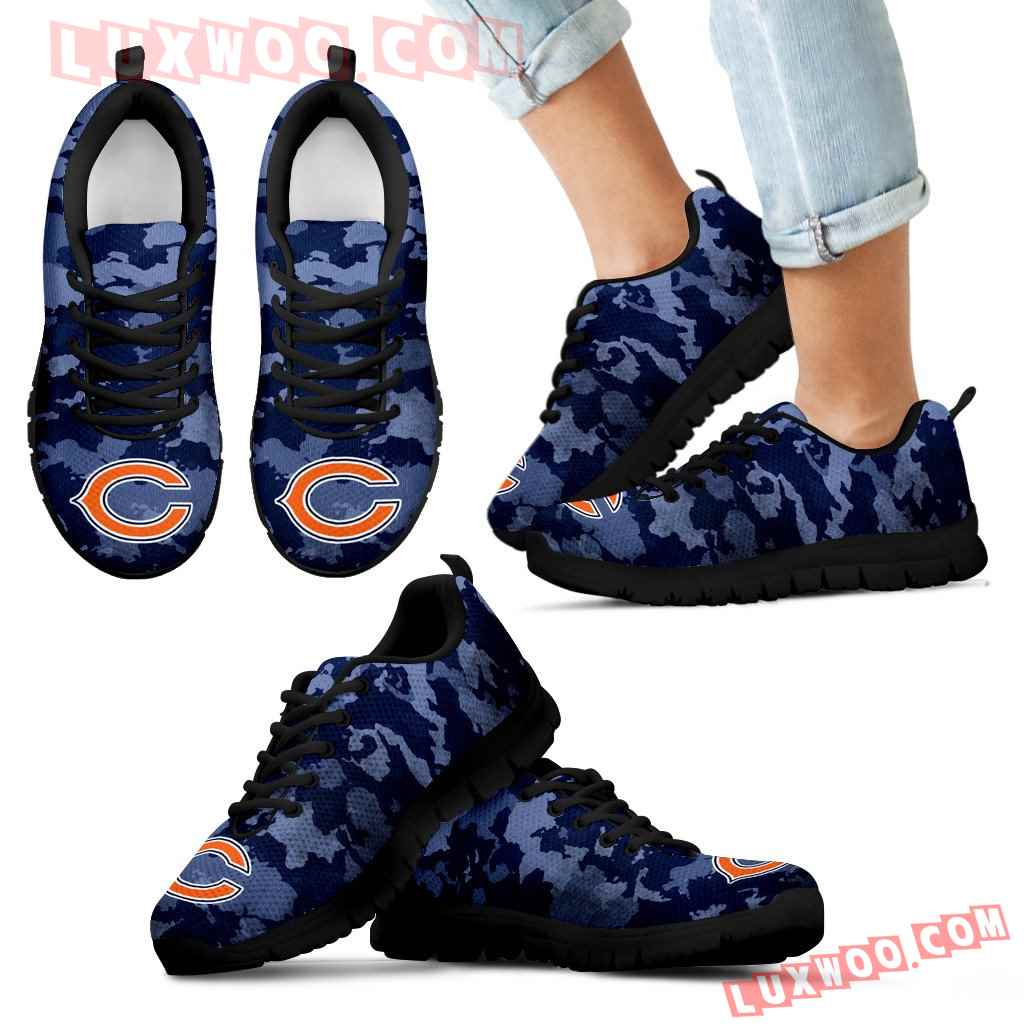 Arches Top Fabulous Camouflage Background Chicago Bears Sneakers