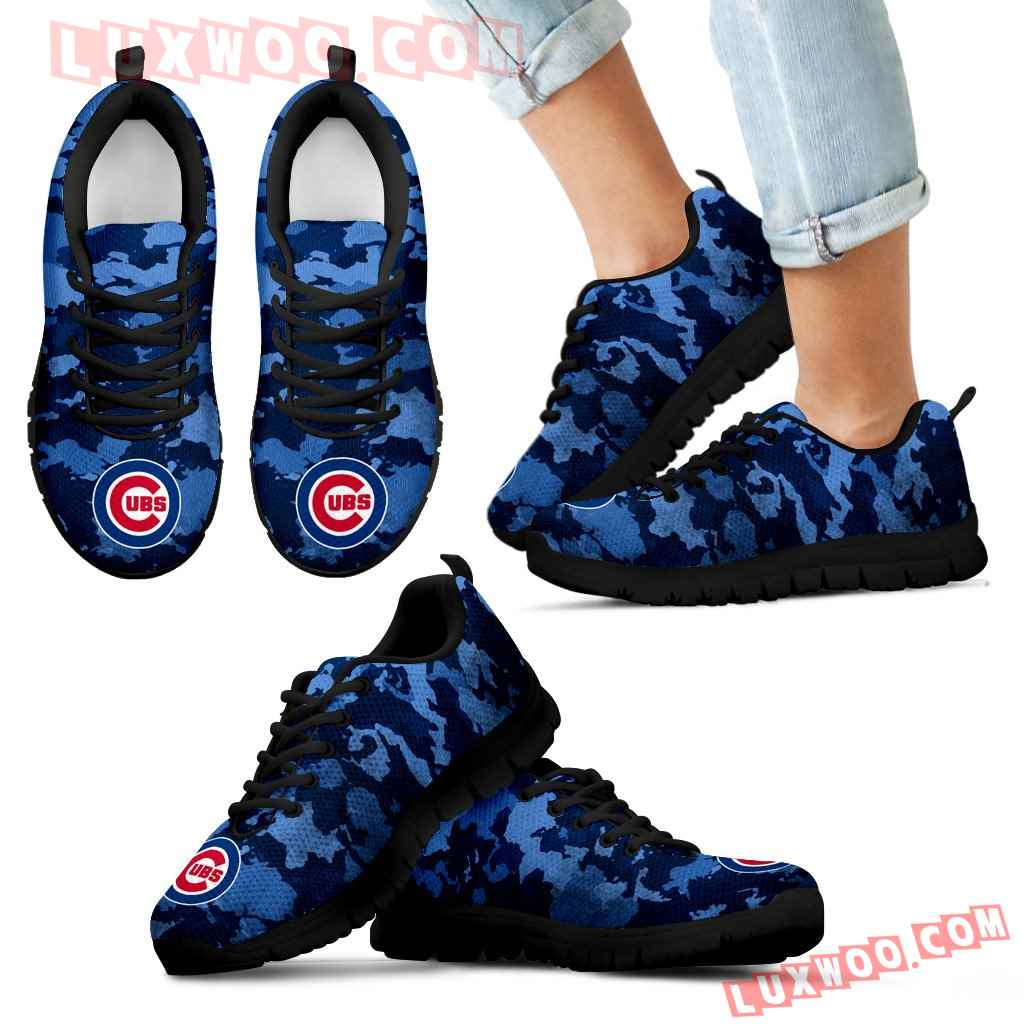 Arches Top Fabulous Camouflage Background Chicago Cubs Sneakers