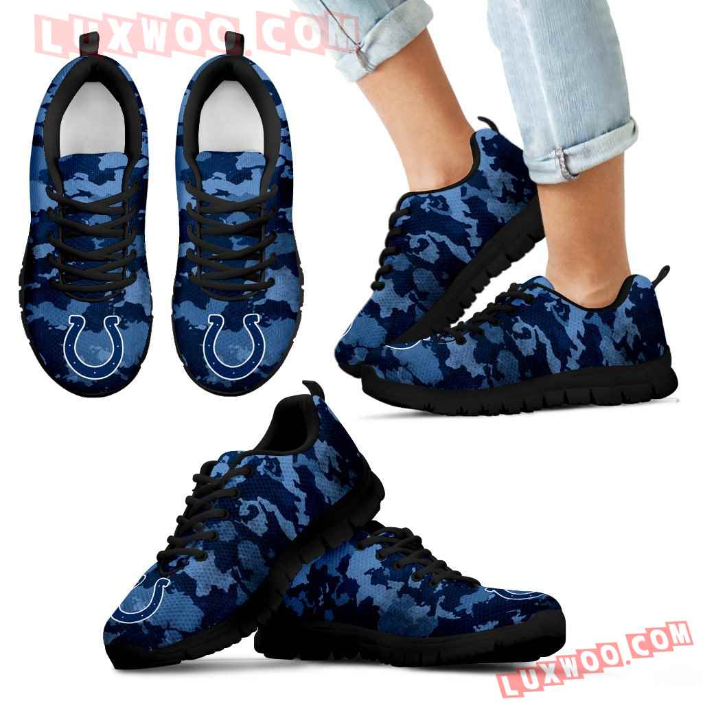 Arches Top Fabulous Camouflage Background Indianapolis Colts Sneakers