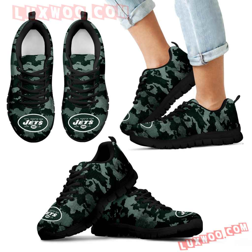 Arches Top Fabulous Camouflage Background New York Jets Sneakers