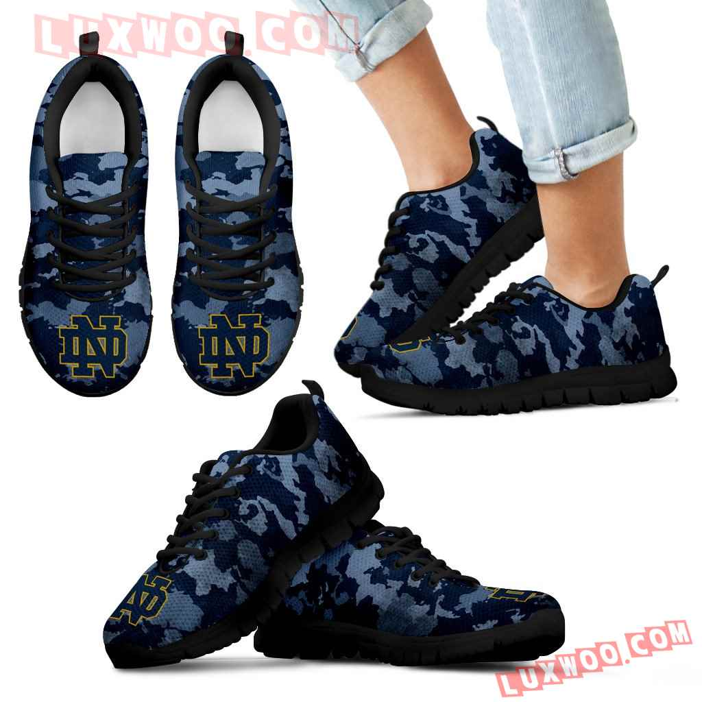 Arches Top Fabulous Camouflage Background Notre Dame Fighting Irish Sneakers