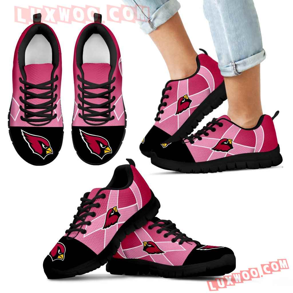 Arizona Cardinals Cancer Pink Ribbon Sneakers