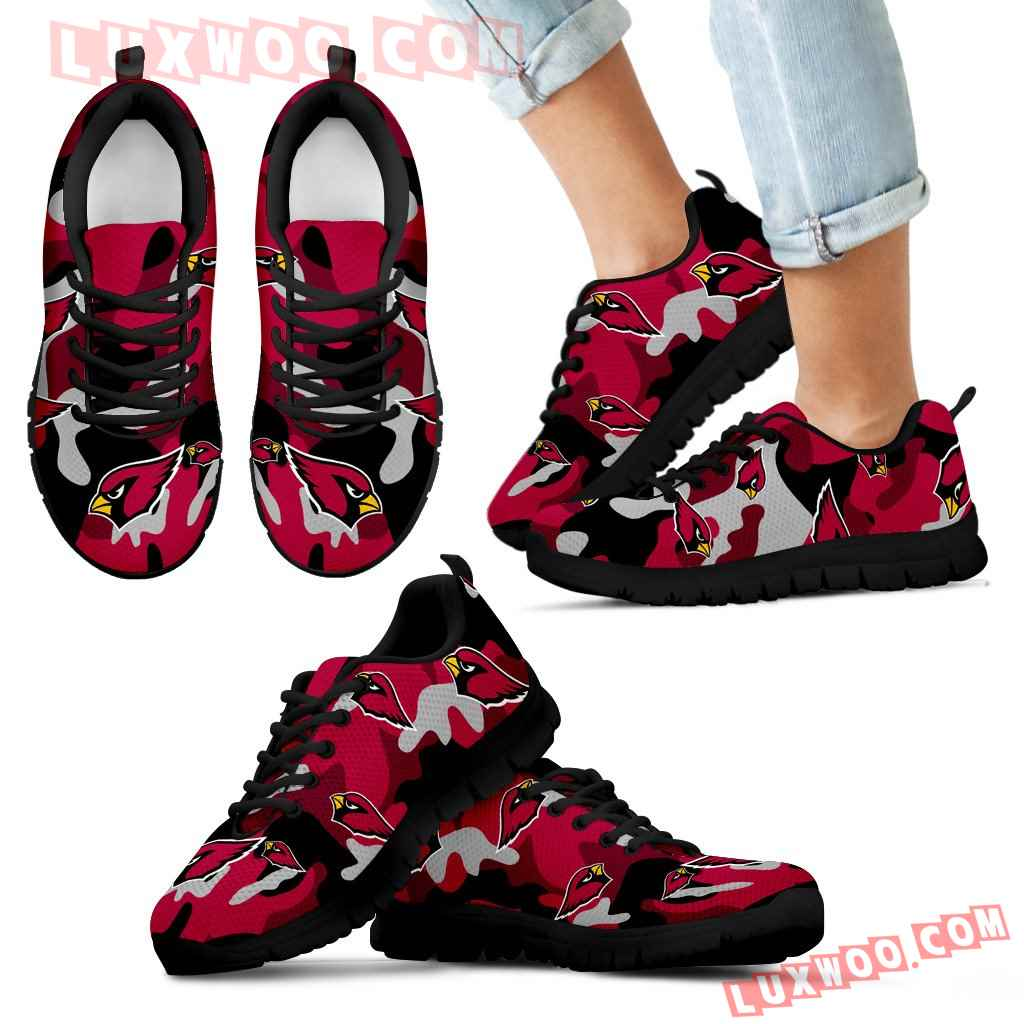Arizona Cardinals Cotton Camouflage Fabric Military Solider Style Sneakers