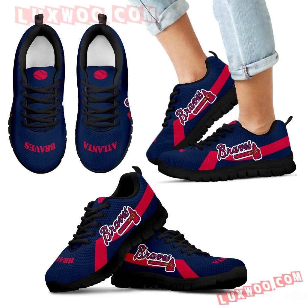 Atlanta Braves Line Logo Sneakers