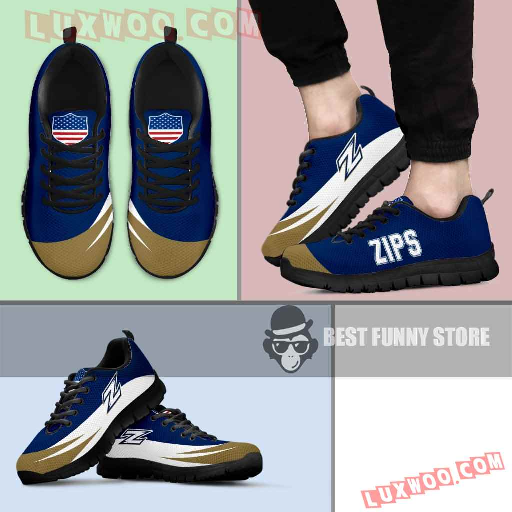 Awesome Gift Logo Akron Zips Sneakers
