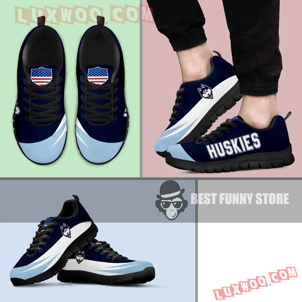 Awesome Gift Logo Connecticut Huskies Sneakers