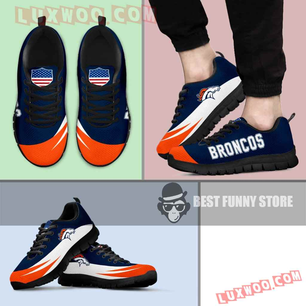 Awesome Gift Logo Denver Broncos Sneakers