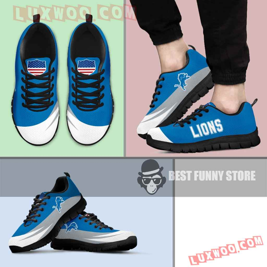 Awesome Gift Logo Detroit Lions Sneakers