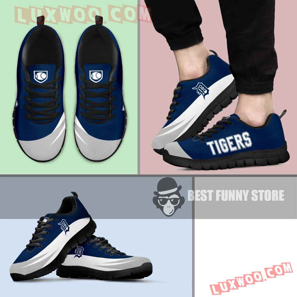 Awesome Gift Logo Detroit Tigers Sneakers