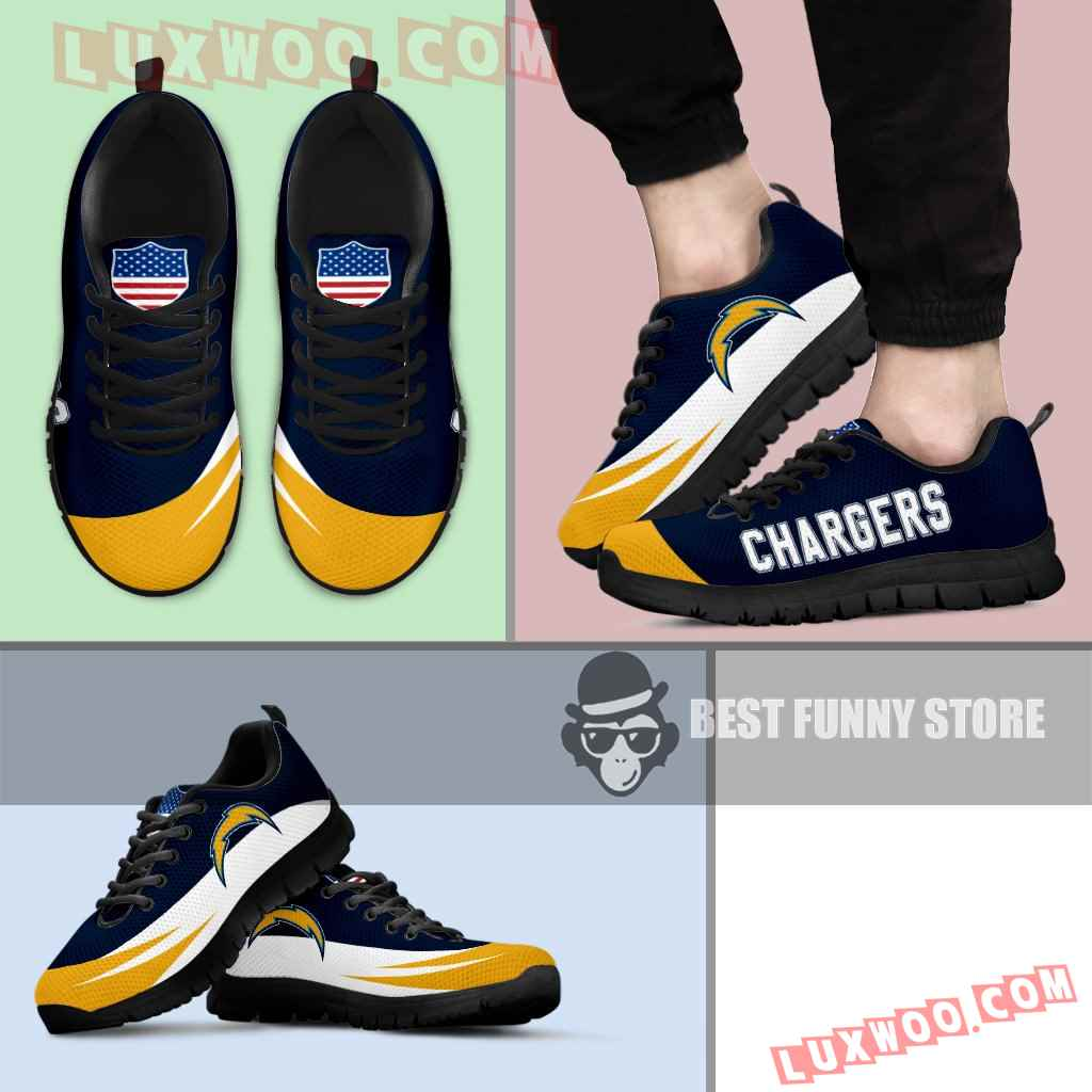 Awesome Gift Logo Los Angeles Chargers Sneakers