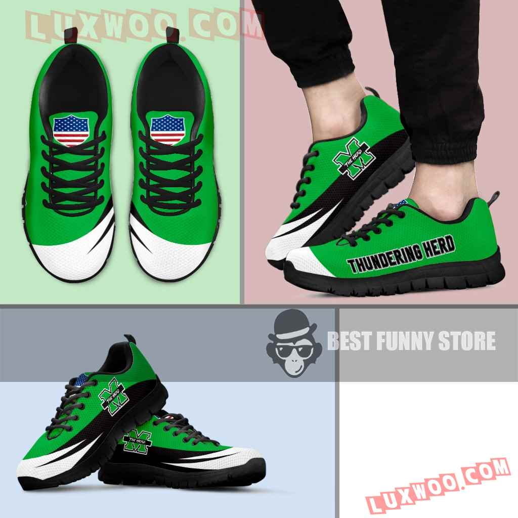 Awesome Gift Logo Marshall Thundering Herd Sneakers