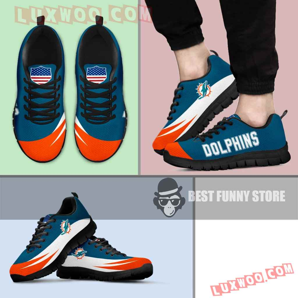 Awesome Gift Logo Miami Dolphins Sneakers