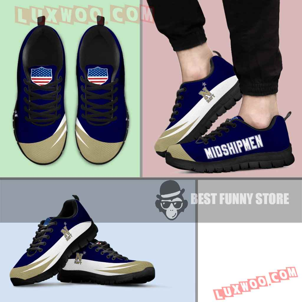 Awesome Gift Logo Navy Midshipmen Sneakers