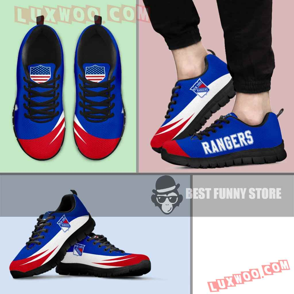 Awesome Gift Logo New York Rangers Sneakers