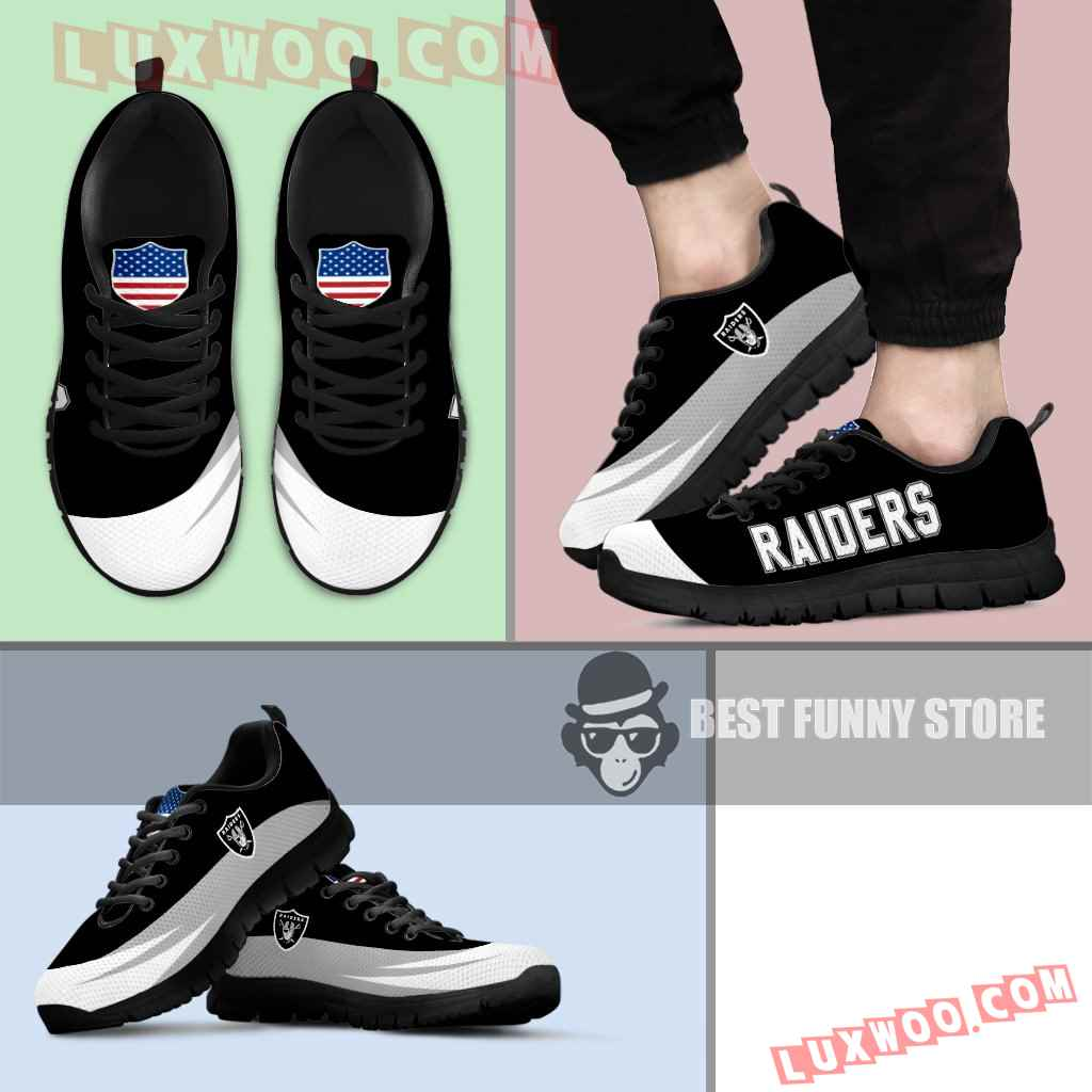 Awesome Gift Logo Oakland Raiders Sneakers