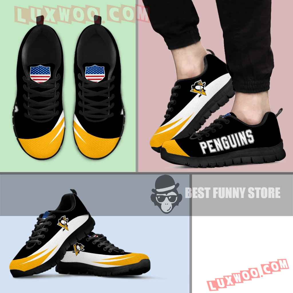 Awesome Gift Logo Pittsburgh Penguins Sneakers
