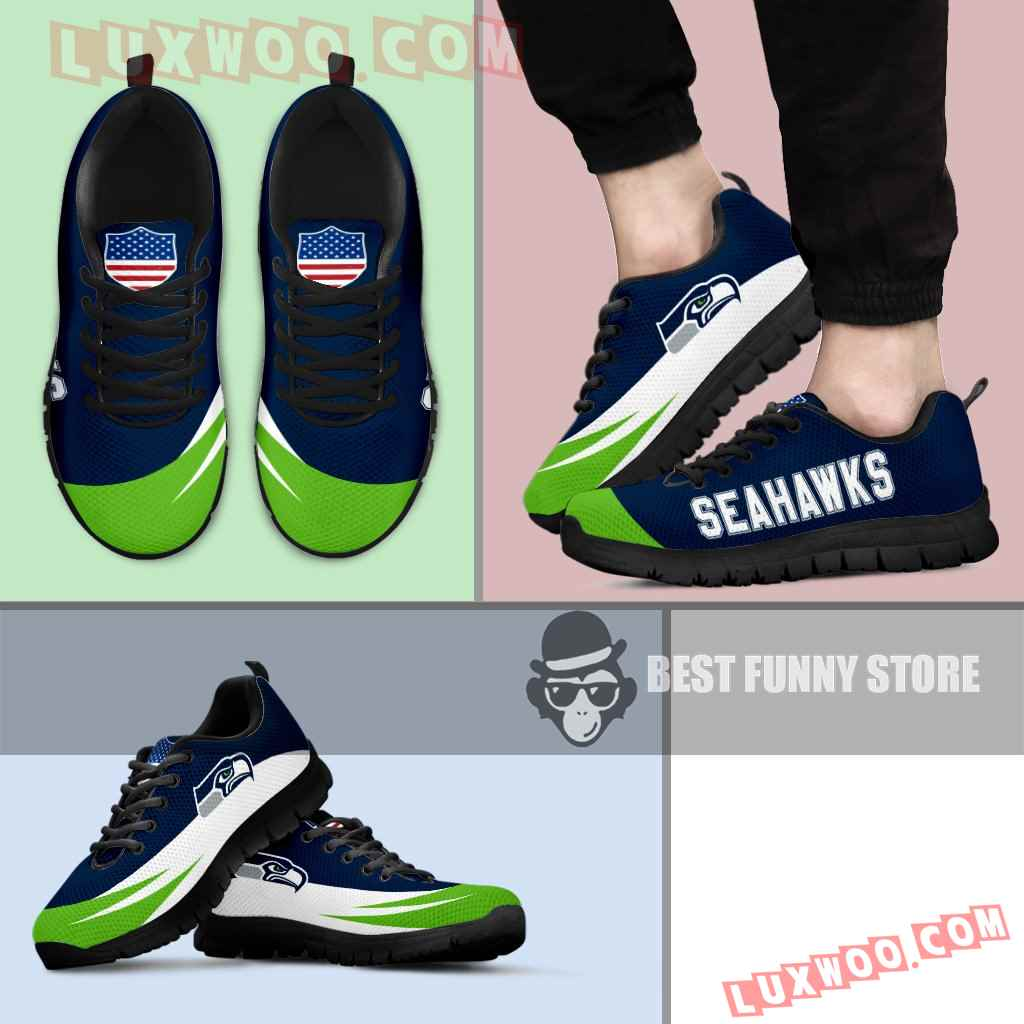 Awesome Gift Logo Seattle Seahawks Sneakers