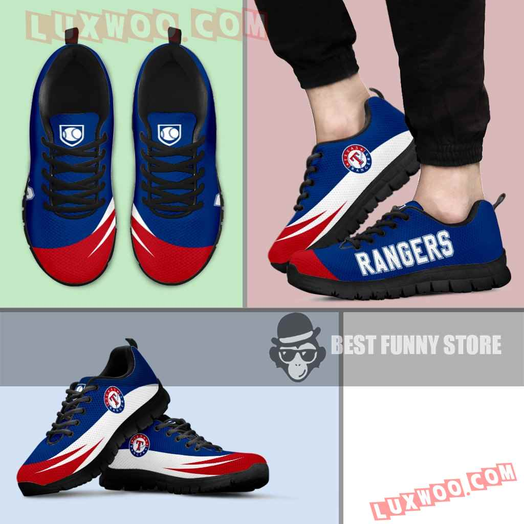 Awesome Gift Logo Texas Rangers Sneakers