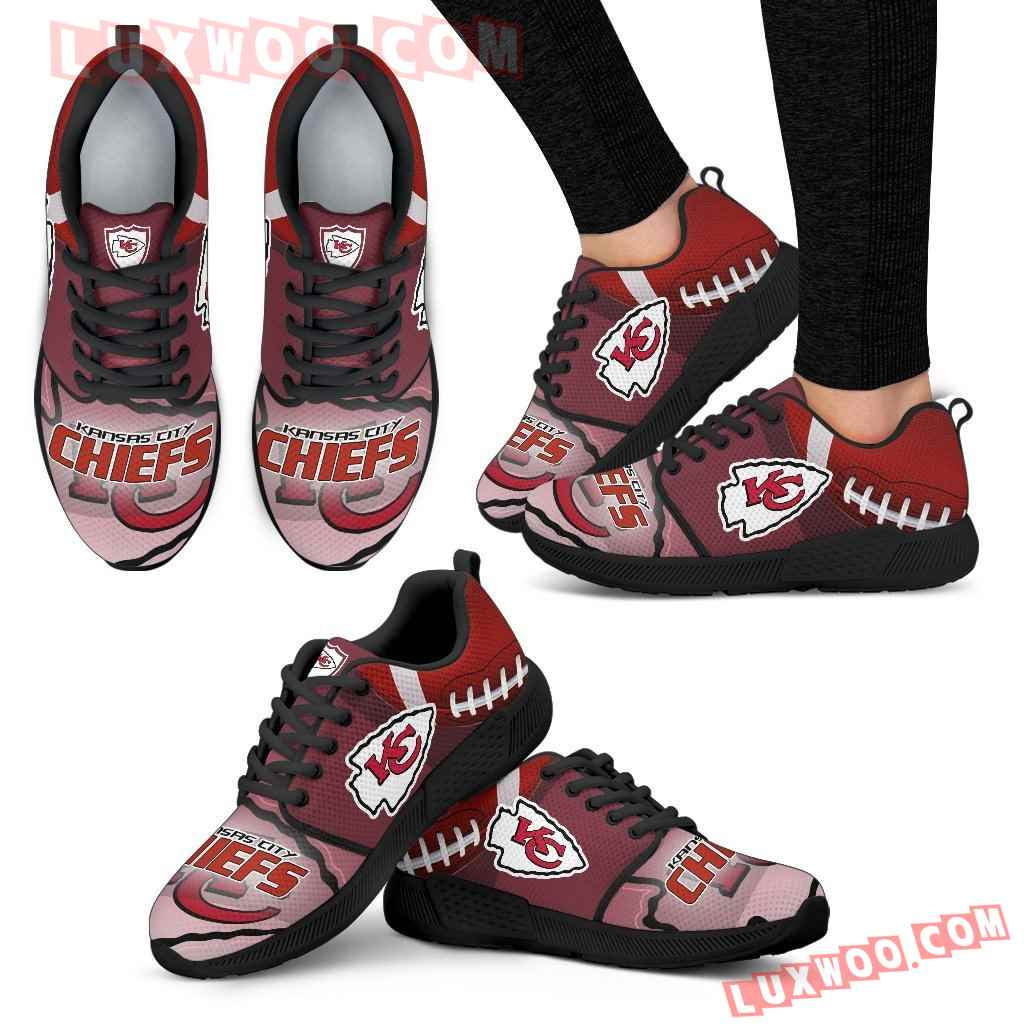 Awesome Kansas City Chiefs Running Sneakers For Football Fan