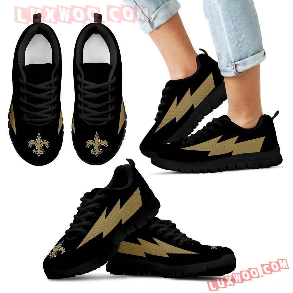 Awesome New Orleans Saints Sneakers Thunder Lightning Amazing Logo