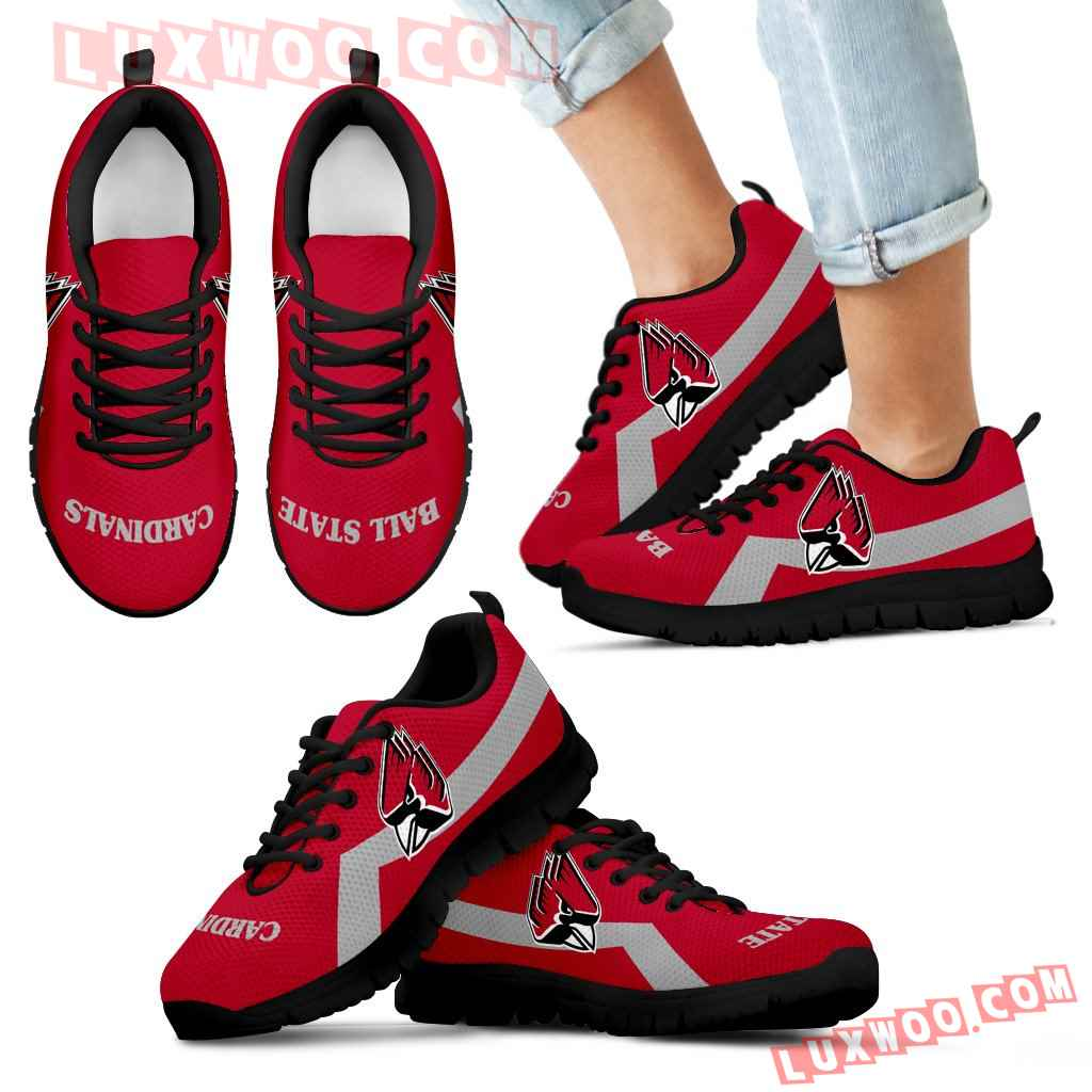 Ball State Cardinals Line Logo Sneakers