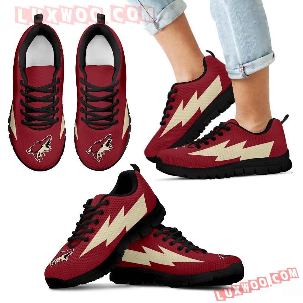 Beautiful Arizona Coyotes Sneakers Thunder Lightning Amazing Logo