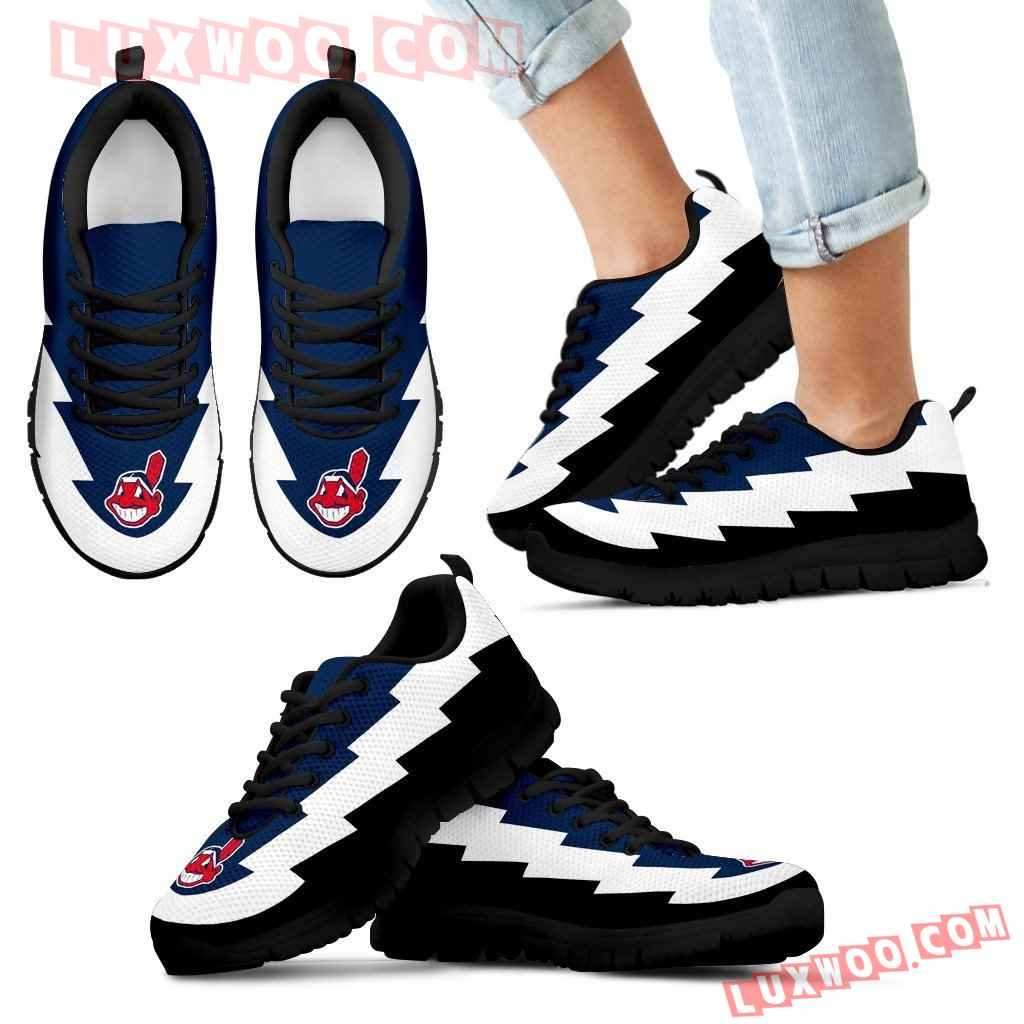 Beautiful Cleveland Indians Sneakers Jagged Saws Creative Draw