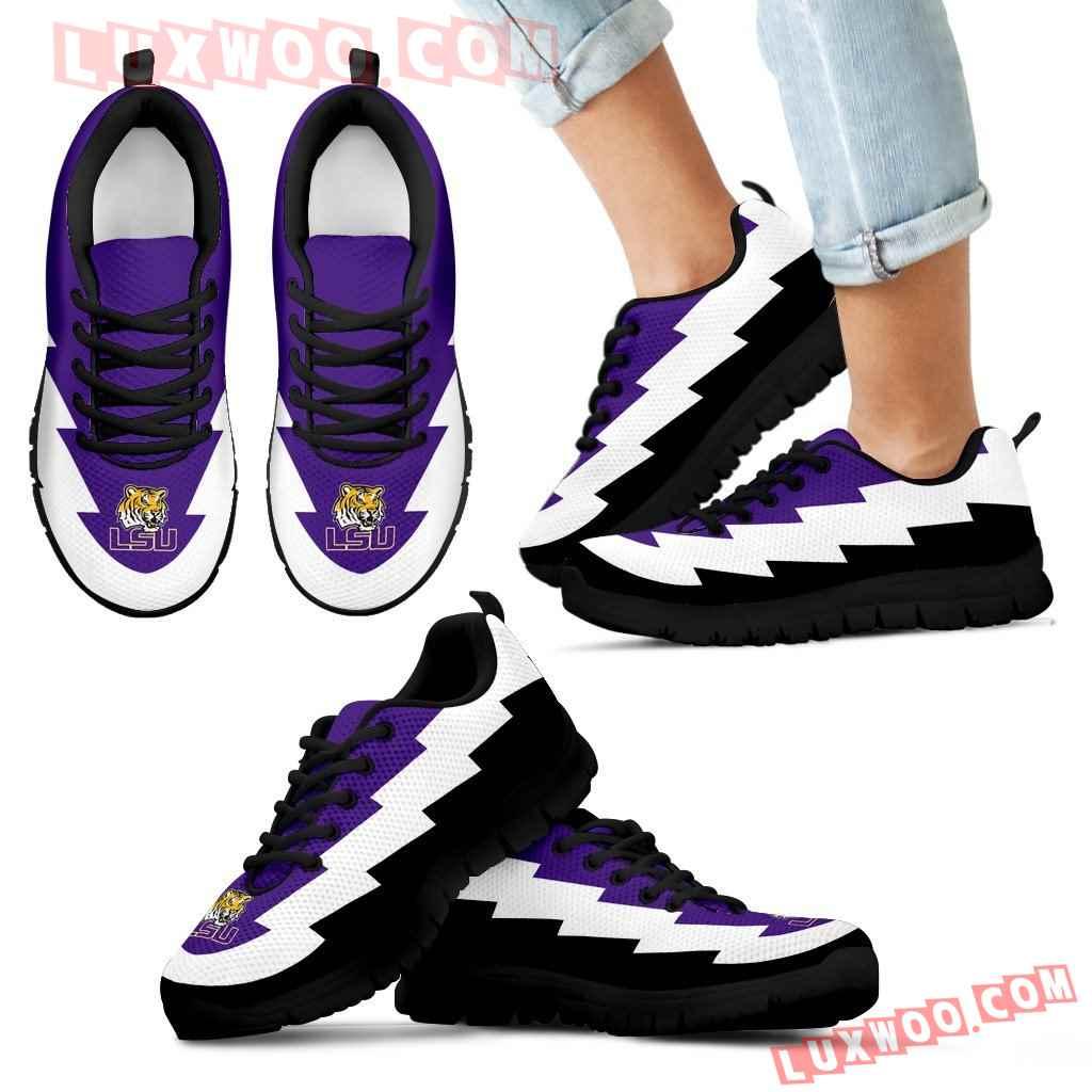 Beautiful Printed Lsu Tigers Sneakers Jagged Saws Creative Draw