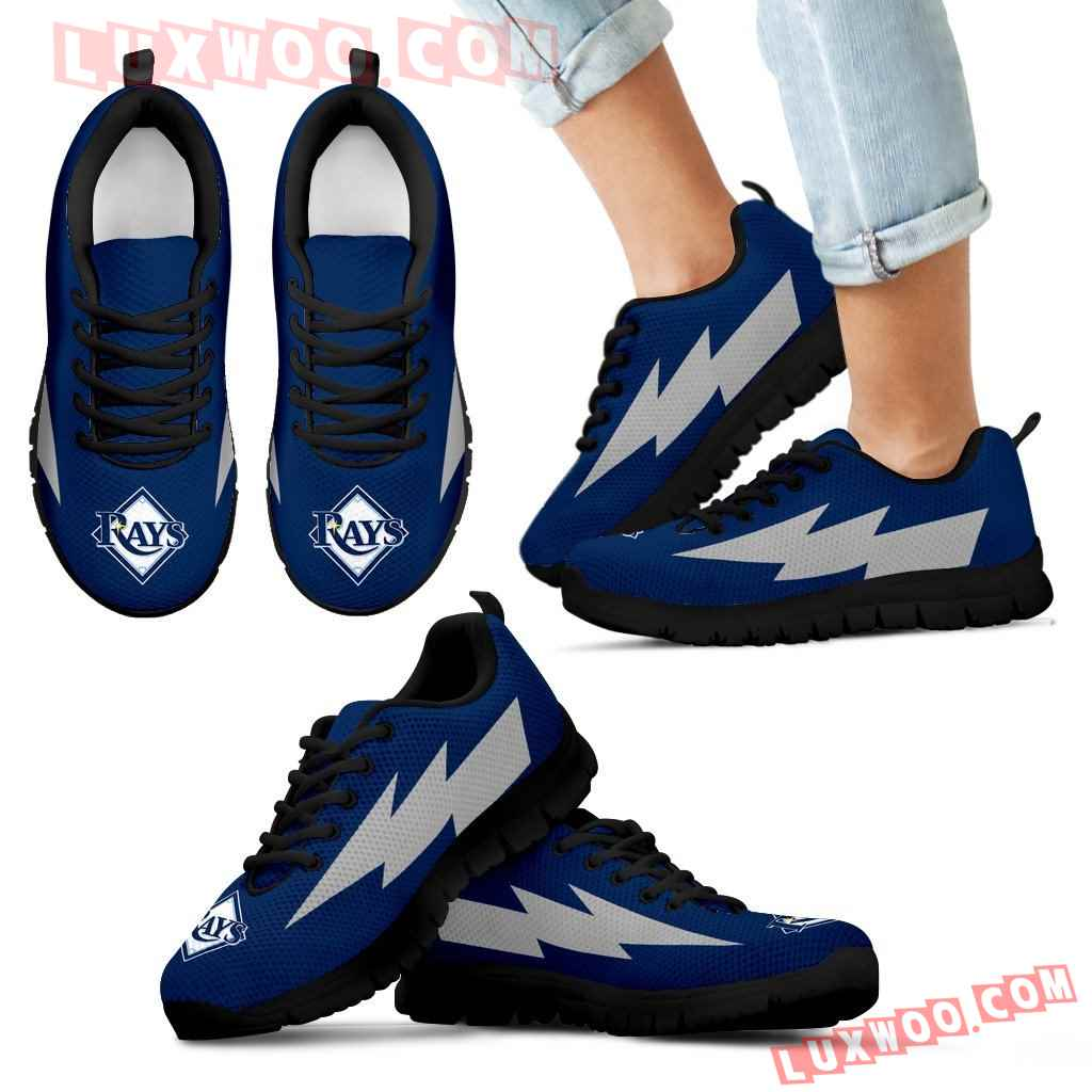 Beautiful Tampa Bay Rays Sneakers Thunder Lightning Amazing Logo