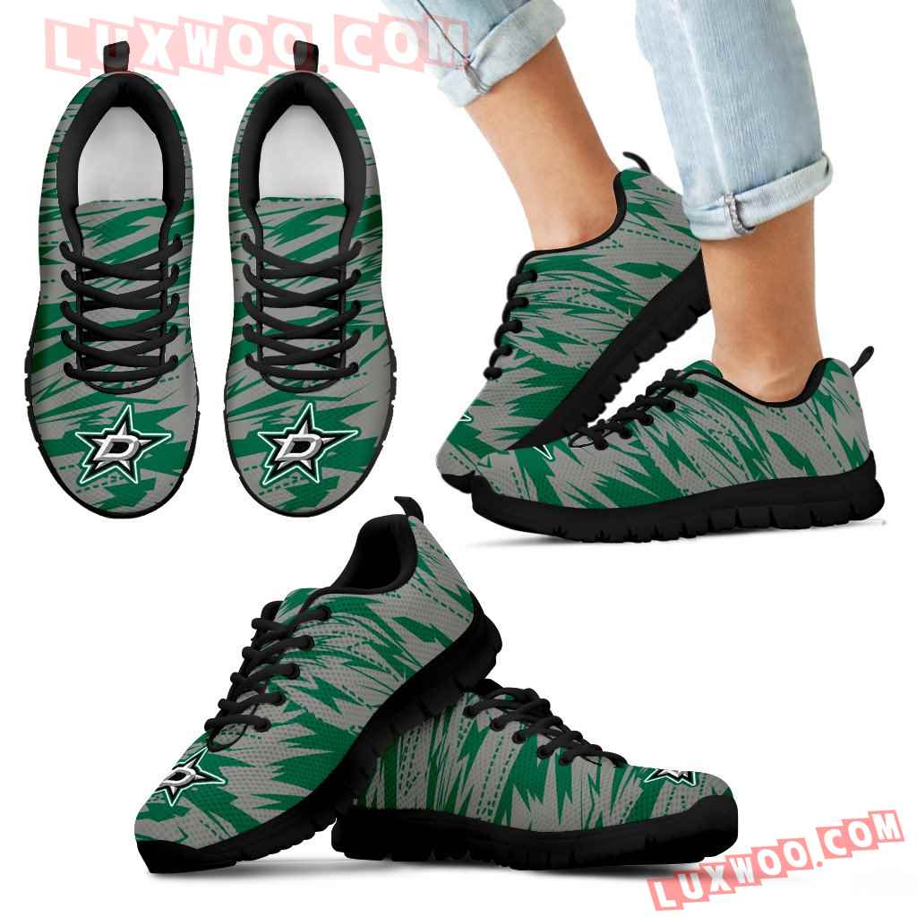 Brush Strong Cracking Comfortable Dallas Stars Sneakers