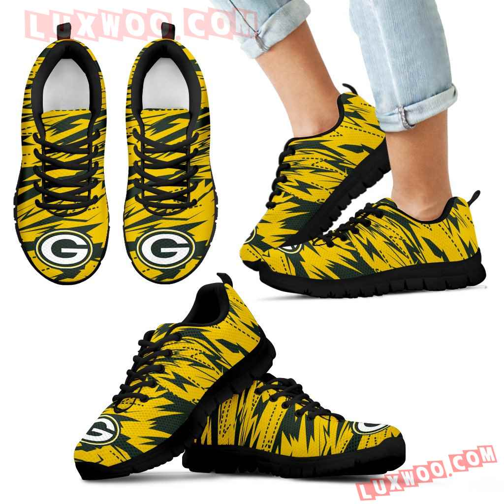 Brush Strong Cracking Comfortable Green Bay Packers Sneakers