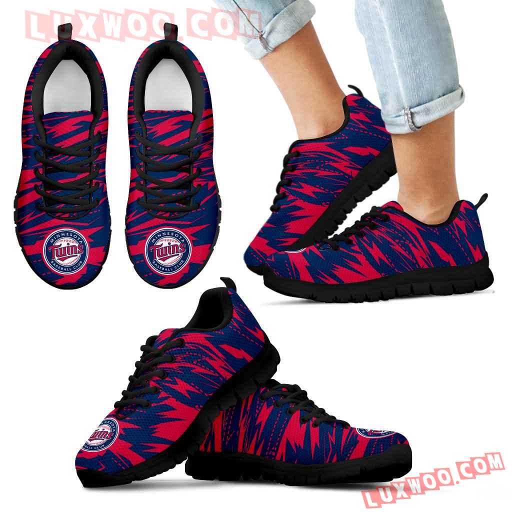 Brush Strong Cracking Comfortable Minnesota Twins Sneakers