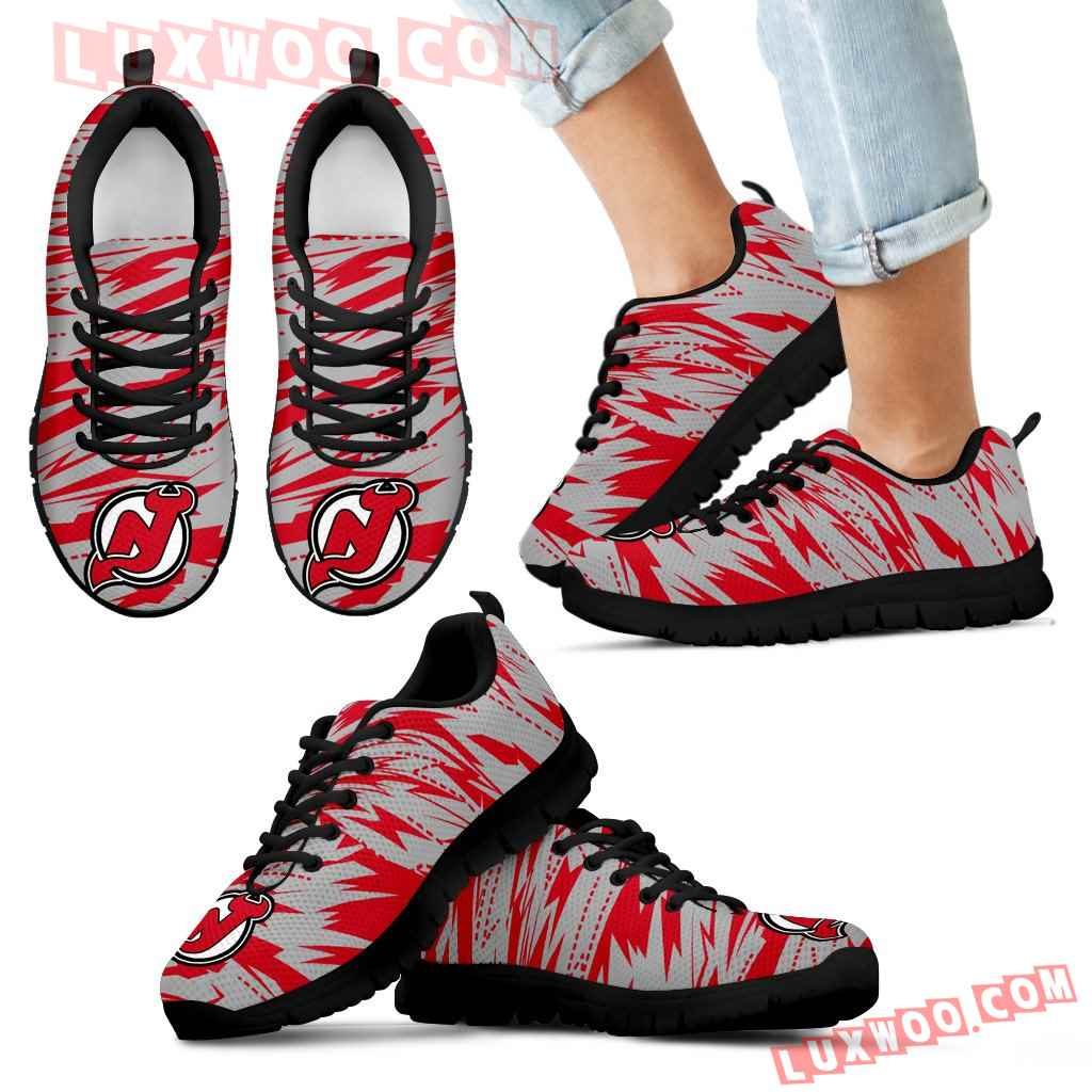 Brush Strong Cracking Comfortable New Jersey Devils Sneakers