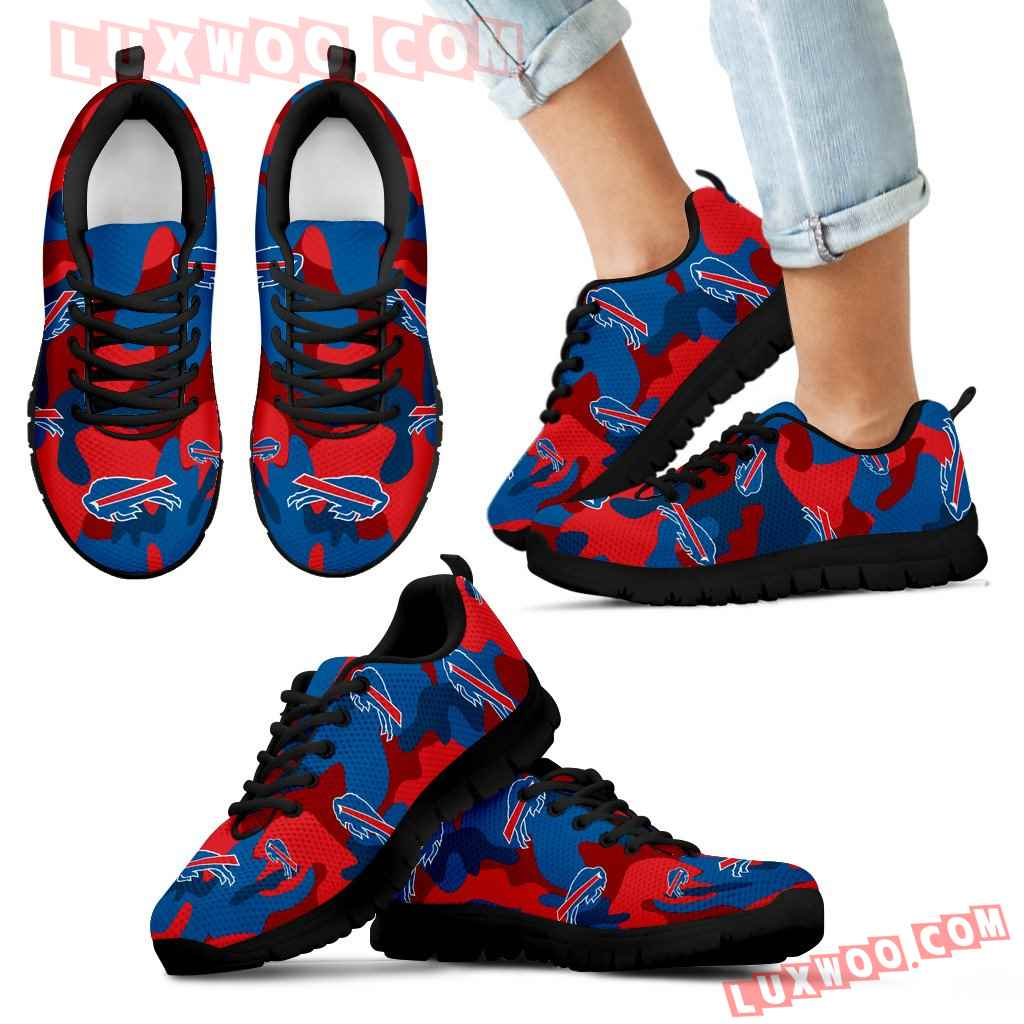 Buffalo Bills Cotton Camouflage Fabric Military Solider Style Sneakers