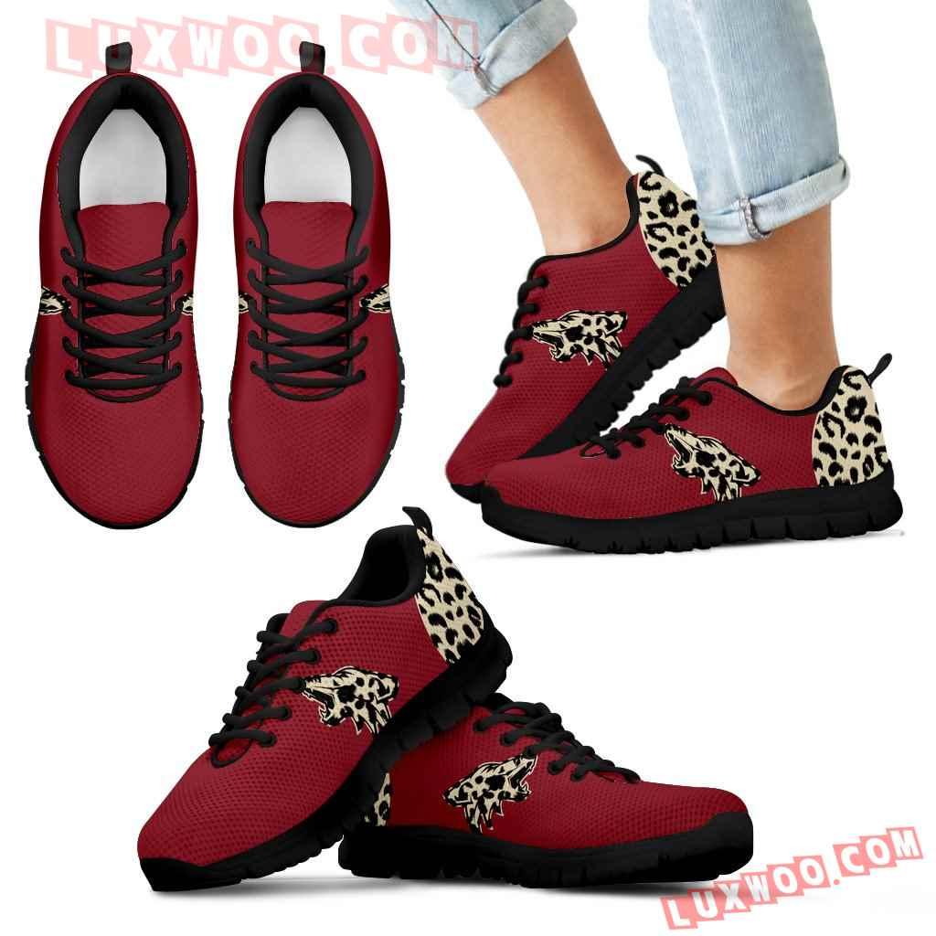 Cheetah Pattern Fabulous Arizona Coyotes Sneakers