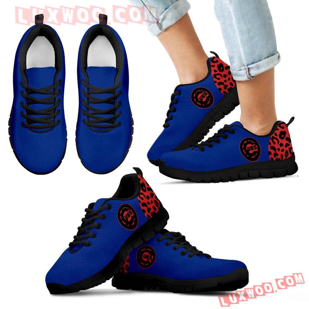 Cheetah Pattern Fabulous Chicago Cubs Sneakers