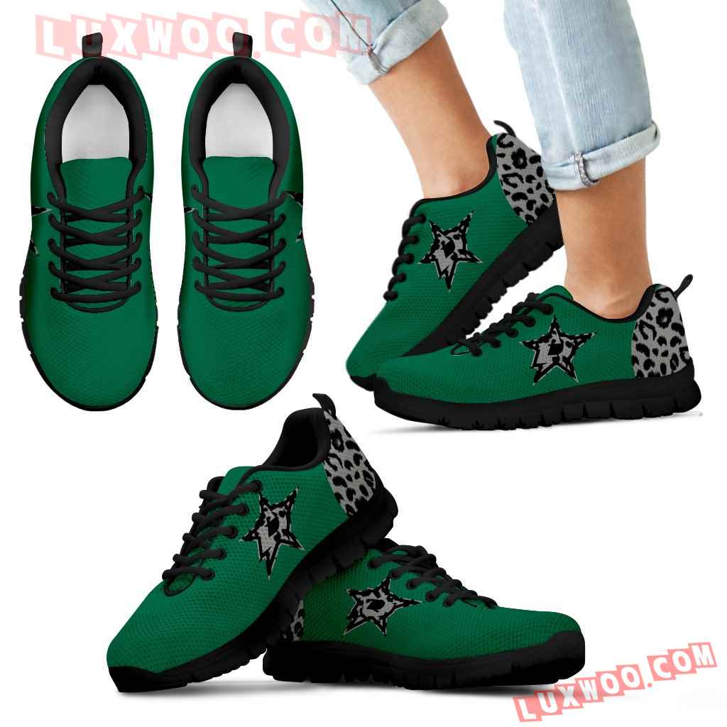 Cheetah Pattern Fabulous Dallas Stars Sneakers