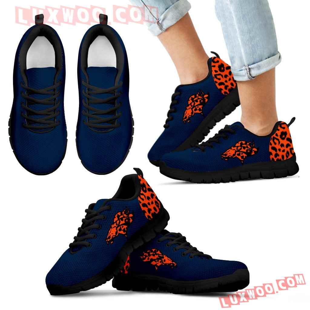 Cheetah Pattern Fabulous Denver Broncos Sneakers
